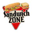 sandwich zone vintage rusty metal sign vector image vector image