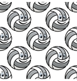 Seamless pattern of cartoon volleyballs vector image vector image