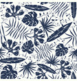 seamless pattern with tropical plant leaves vector image vector image