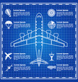 set icons on a theme aviation vector image