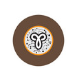 stylish icon in color circle zodiac sign aries vector image vector image
