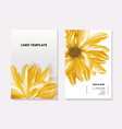 sunflower contrast card template summer 3d vector image