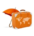 traveling element baggage and umbrella vector image vector image
