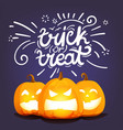 trick or treat happy halloween greeting card vector image