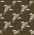 unknown flying object seamless pattern vector image vector image