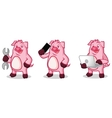 Violet Pig Mascot with laptop vector image vector image