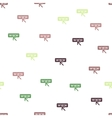Website Seamless Flat Pattern vector image