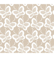 White butterflies seamless lace pattern vector image
