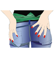 Woman in jeans vector image vector image