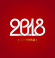 new 2018 year paper vector image