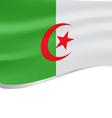 Algeria wavy flag on white background vector image