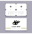 Makeup artist business card Hipster minimal vector image