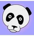 Panda pop art vector image