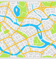 abstract city map seamless pattern vector image vector image