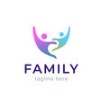 abstract family icon together symbol template vector image