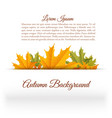 abstract floral autumn template vector image