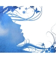 abstract Young girl face silhouette in profile vector image vector image