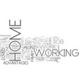 are you suitable to work from home text word vector image vector image