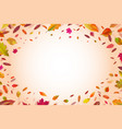 autumnal background autumn falling yellow leaves vector image