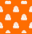 big cake pattern seamless vector image