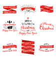 big set of merry christmas and happy new year vector image vector image