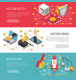 bitcoin rate safety isometric banners vector image vector image