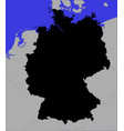 black map germany vector image vector image