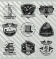 black vintage independence day labels set vector image vector image