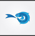 blue fish image vector image