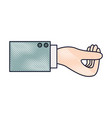 business hand side view gesture get in colored vector image vector image