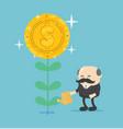 businessman watering money flower vector image