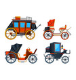 carriage flat style set various vector image vector image