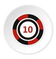 casino chip icon circle vector image vector image