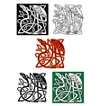 Celtic totems with birds vector image vector image