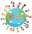 Children doing things around the world vector image vector image