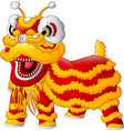 chinese dragon dance vector image vector image