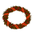 christmas dry holly wreath vector image vector image