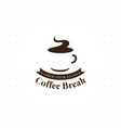 coffee break logo vector image vector image