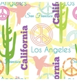 Colorful California Animals Travel Seamless vector image