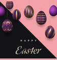 composition of easter eggs festive background vector image