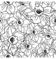 contour floral seamless pattern with drawing vector image vector image