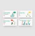 convocation experts landing page template set vector image vector image