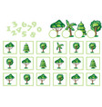 counting game for children with trees vector image vector image