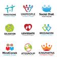 Couple Person Symbol Design vector image vector image