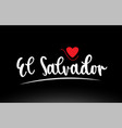 el salvador country text typography logo icon vector image vector image