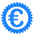 euro reward stamp grunge icon vector image vector image