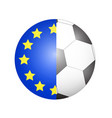 european union flag with soccer ball background vector image