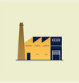 factory or industrial building icon vector image