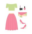 fashion look vector image vector image