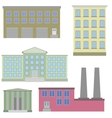 flat icon set of colorful houses vector image vector image
